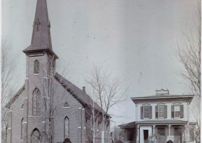 Original Church and Rectory c1888